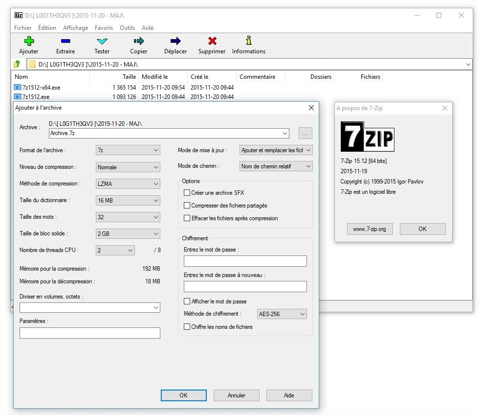 7zip Screenshot